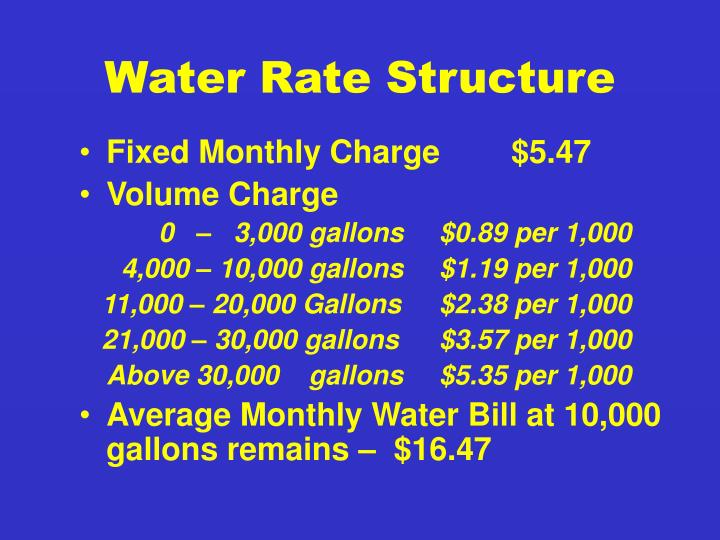 Water Rate Structure