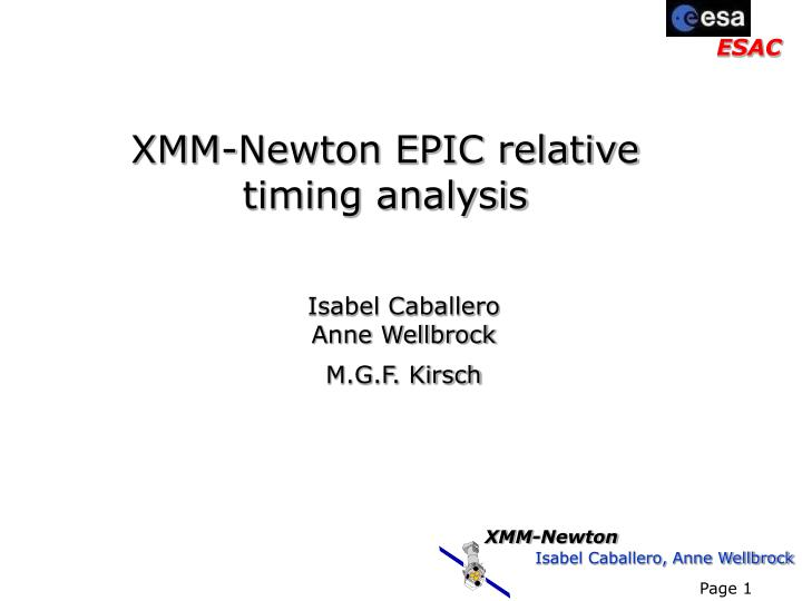 Xmm newton epic relative timing analysis