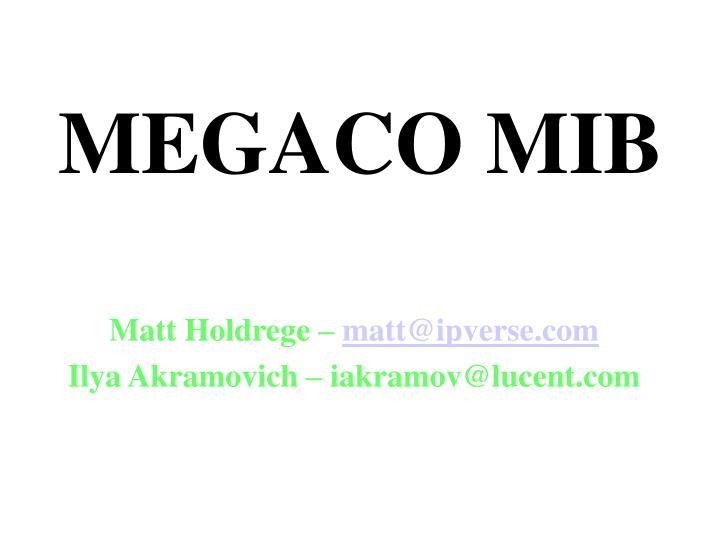 MEGACO MIB