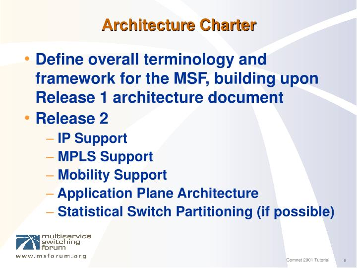 Architecture Charter