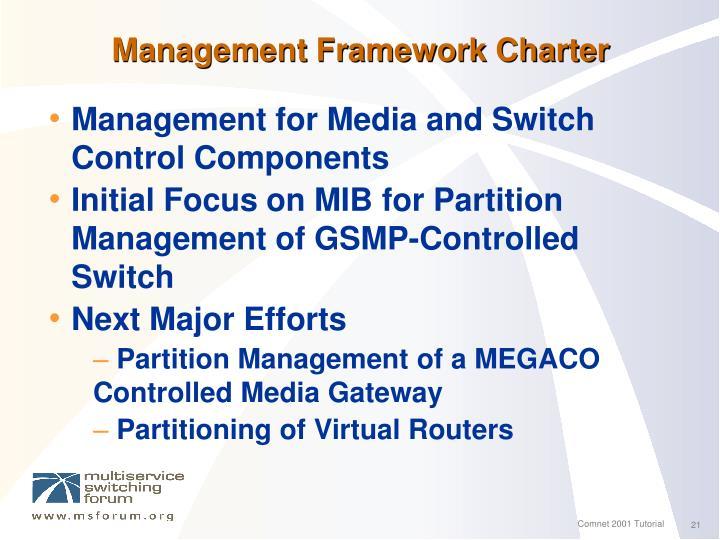 Management Framework Charter