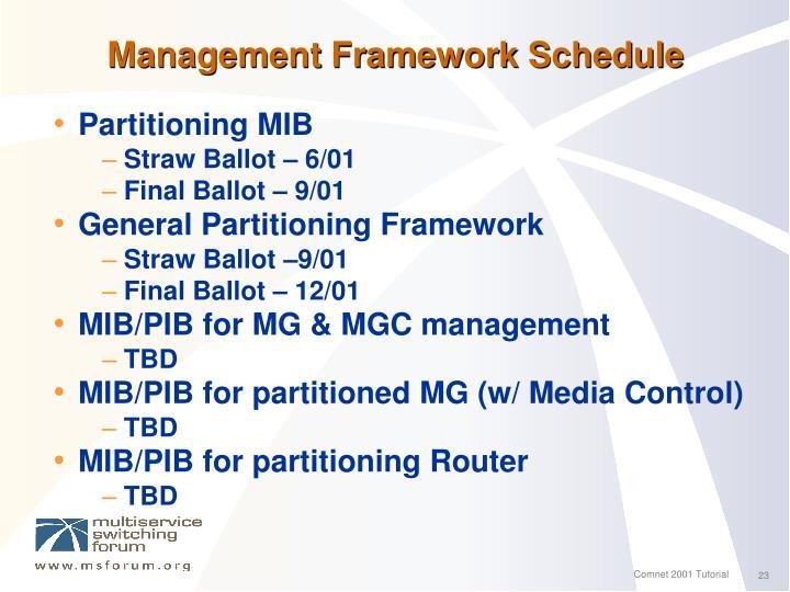 Management Framework Schedule