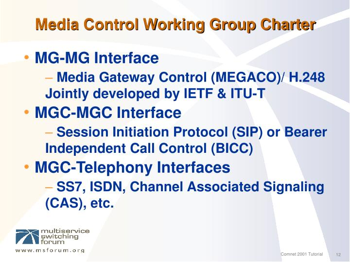 Media Control Working Group Charter