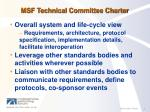 msf technical committee charter