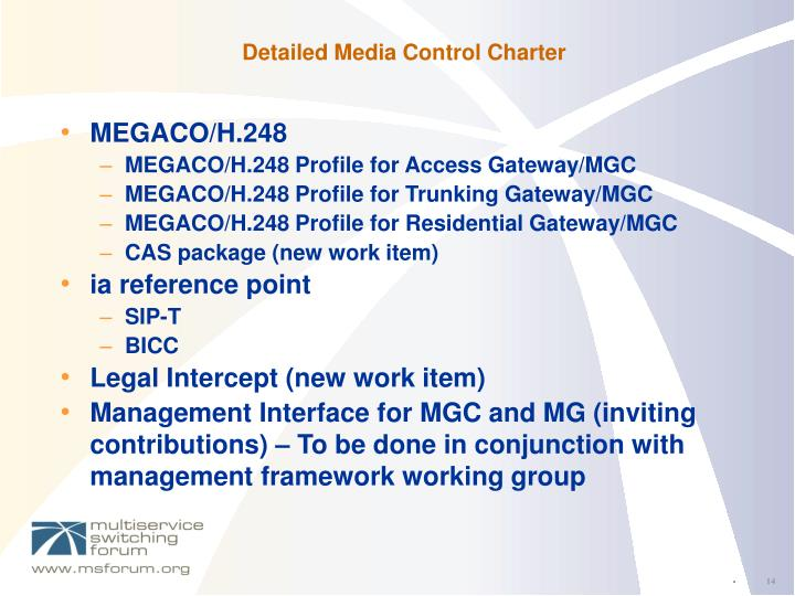 Detailed Media Control Charter