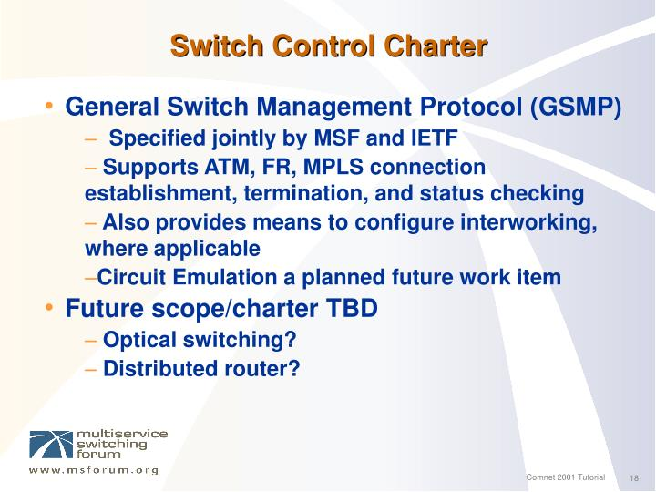 Switch Control Charter