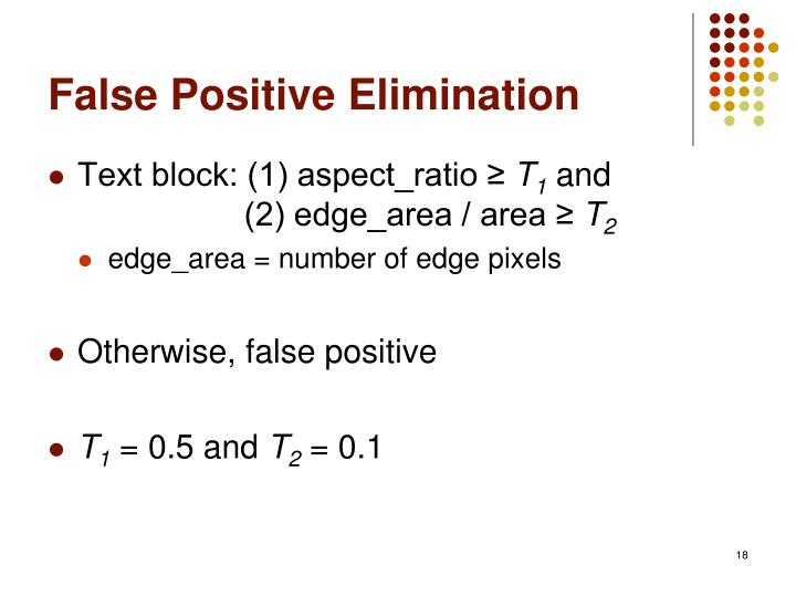 False Positive Elimination