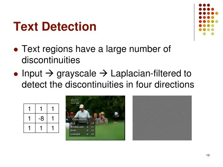 Text Detection