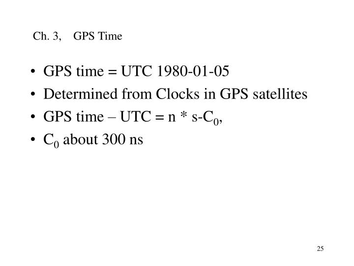 Ch. 3,    GPS Time