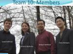 team 10 members