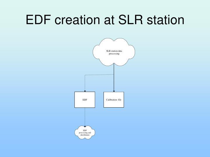 EDF creation at SLR station