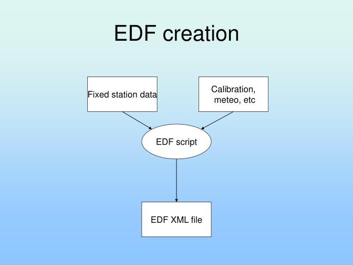 EDF creation
