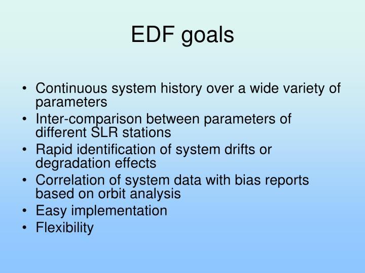 EDF goals