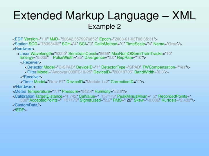 Extended Markup Language – XML