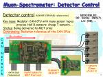 muon spectrometer detector control