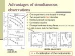 advantages of simultaneous observations