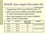 magic data sample december 04