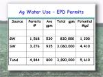 ag water use epd permits