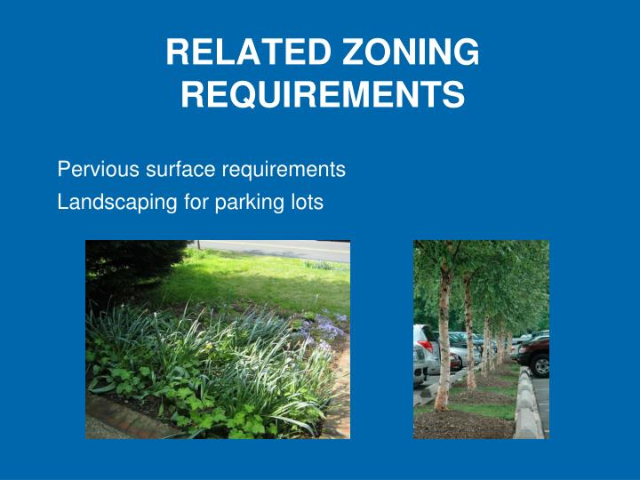 Pervious surface requirements