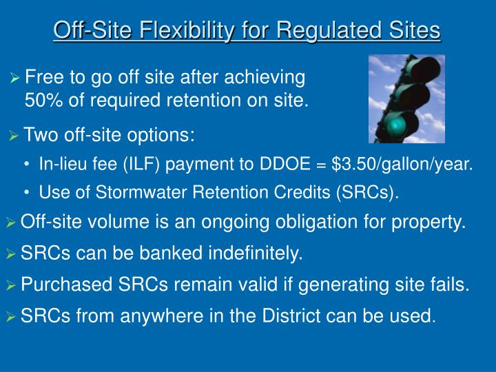 Off-Site Flexibility for Regulated Sites