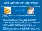 stormwater retention credit trading