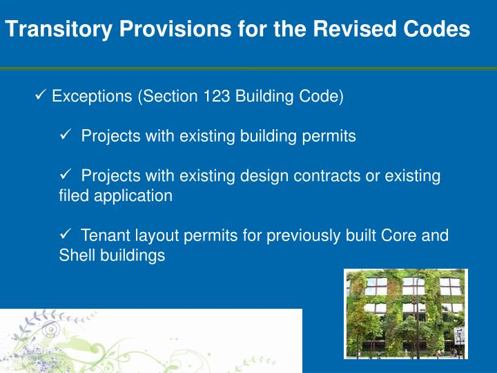 Transitory Provisions for the Revised Codes