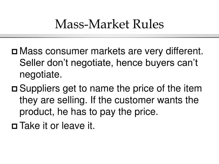 Mass-Market Rules
