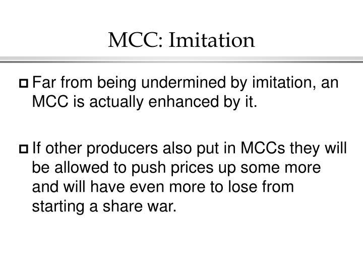 MCC: Imitation