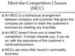meet the competition clauses mcc