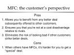 mfc the customer s perspective