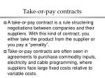 take or pay contracts