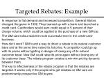 targeted rebates example