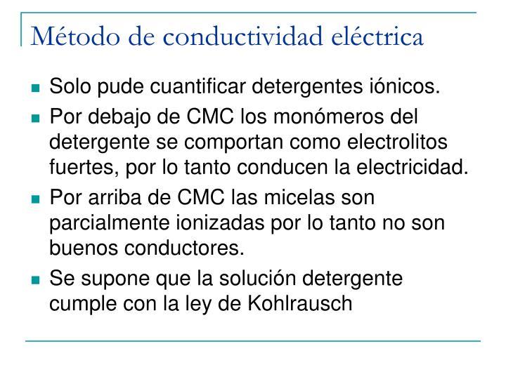 Método de conductividad eléctrica