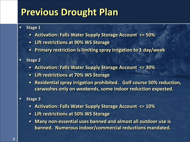 Previous drought plan