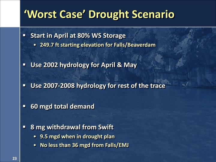 'Worst Case' Drought Scenario