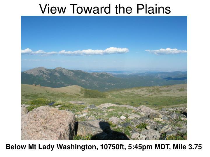 View Toward the Plains
