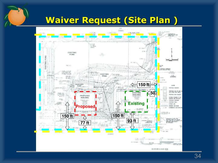 Waiver Request (Site Plan )