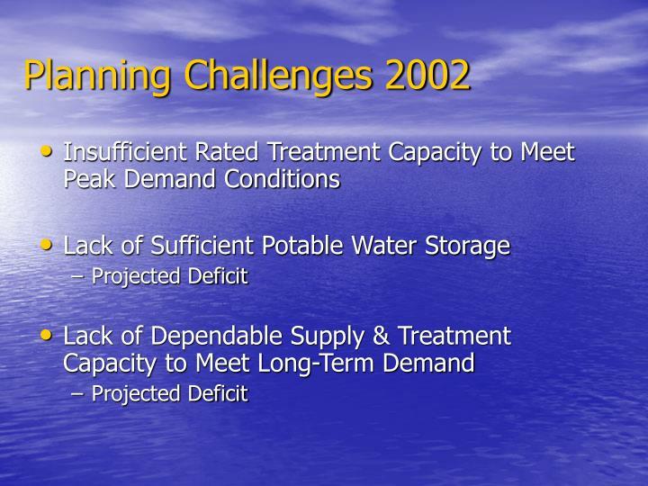 Planning Challenges 2002