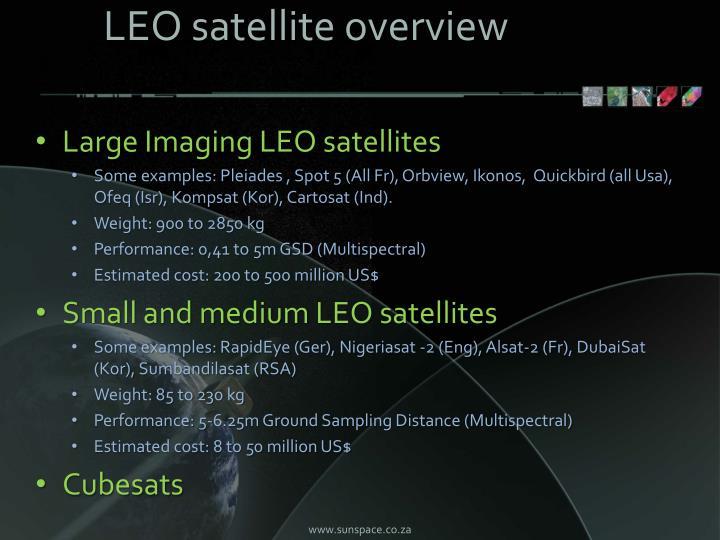 LEO satellite overview