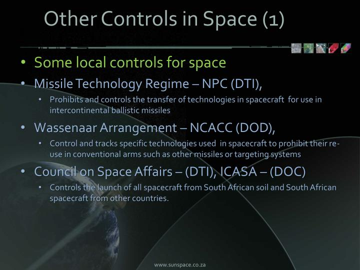 Other Controls in Space (1)