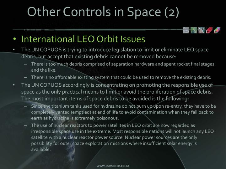 Other Controls in Space (2)