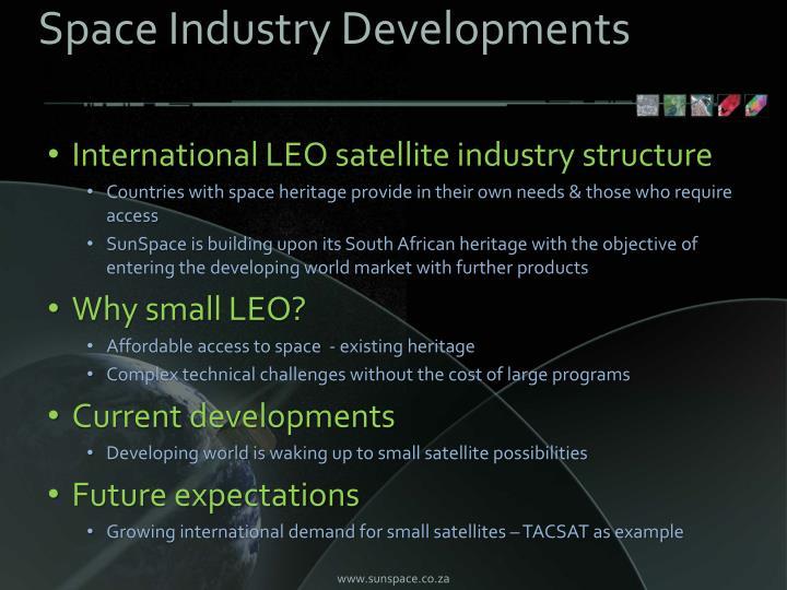 Space Industry Developments