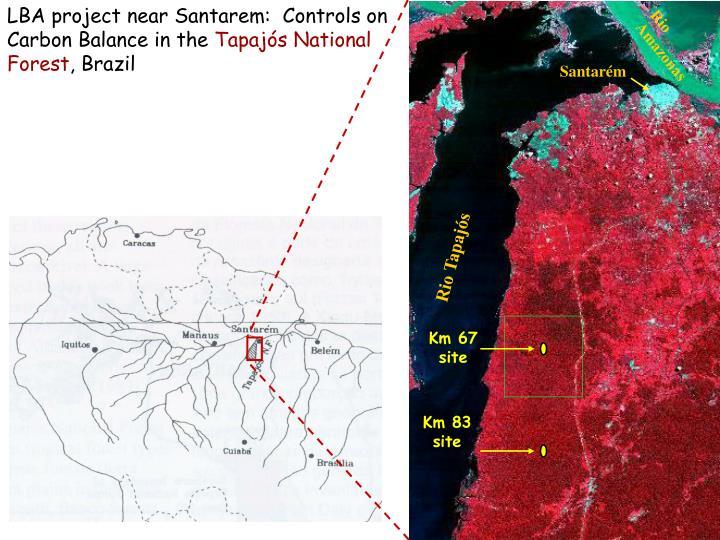 LBA project near Santarem:  Controls on Carbon Balance in the