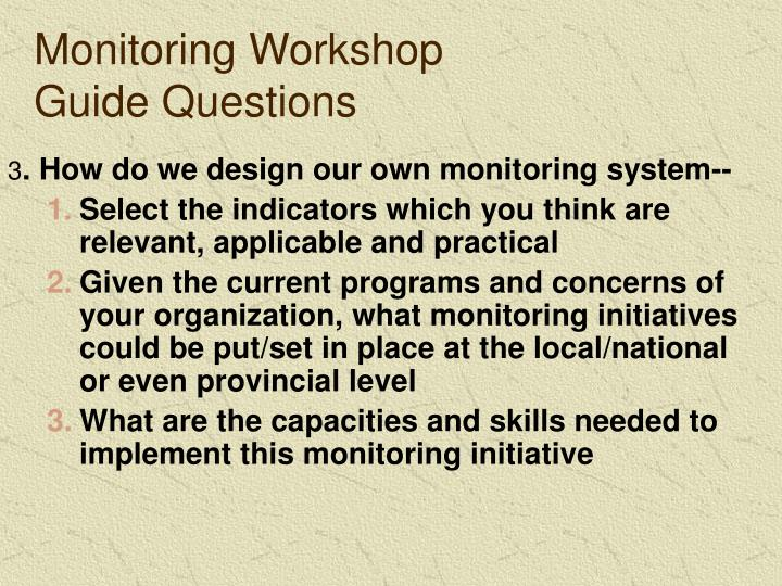 Monitoring Workshop