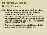 monitoring workshop guide questions1