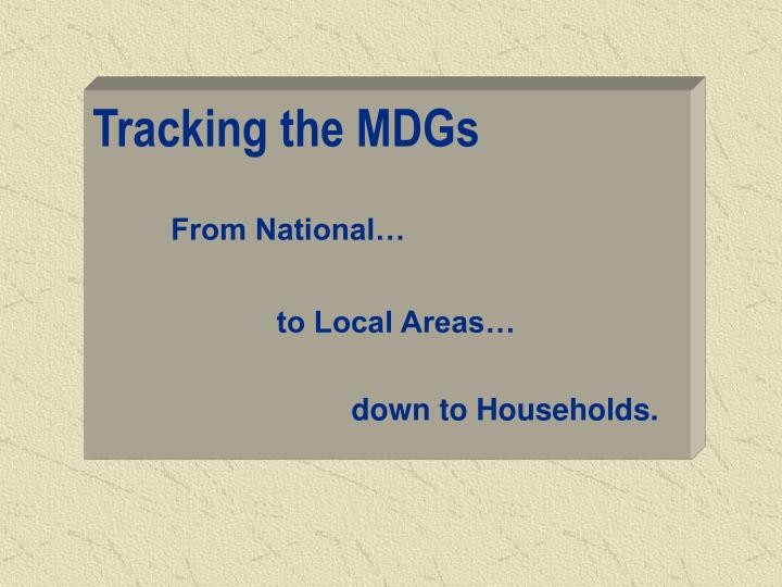 Tracking the MDGs