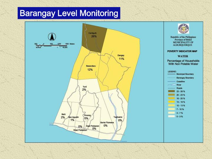 Barangay Level Monitoring