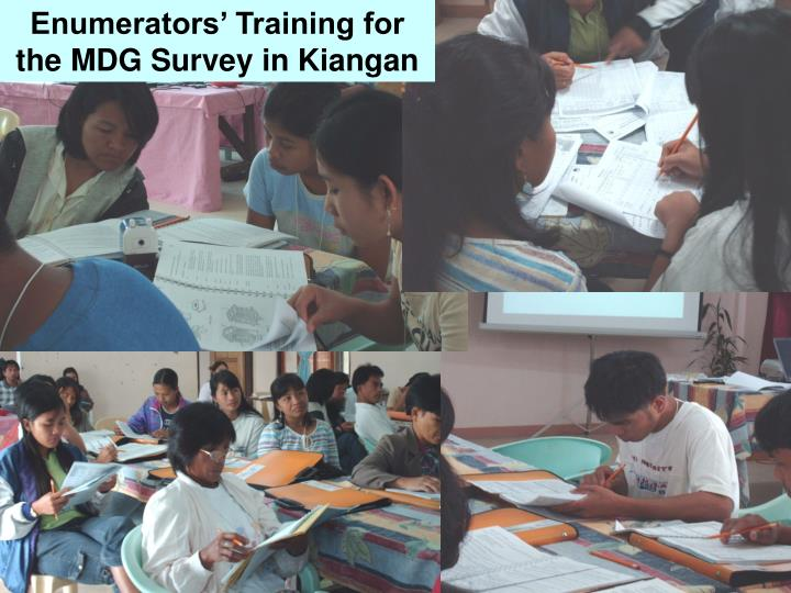 Enumerators' Training for the MDG Survey in Kiangan