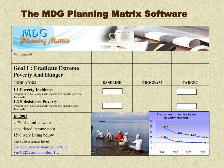 The MDG Planning Matrix Software