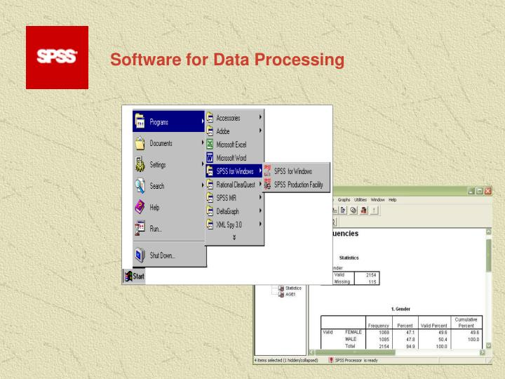Software for Data Processing